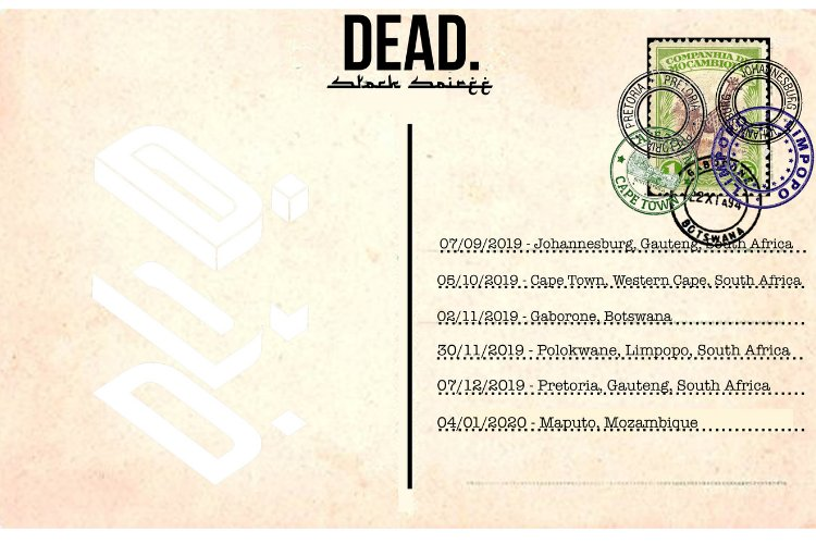 DEAD. STOCK SOIREE SOUTHERN AFRICA TOUR