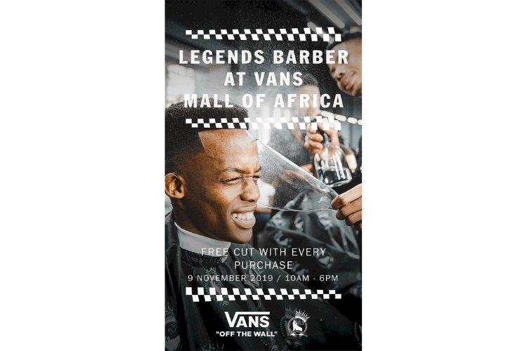 VANS X LEGENDS BARBER GIVING AWAY FREE HAIR CUTS