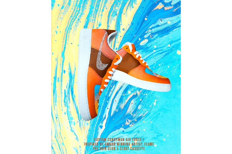 NEW REGIME x VAIN CLUB X CLOUT CASSTTE = ''CANDYMAN'' NIKE AIRFORCE 1