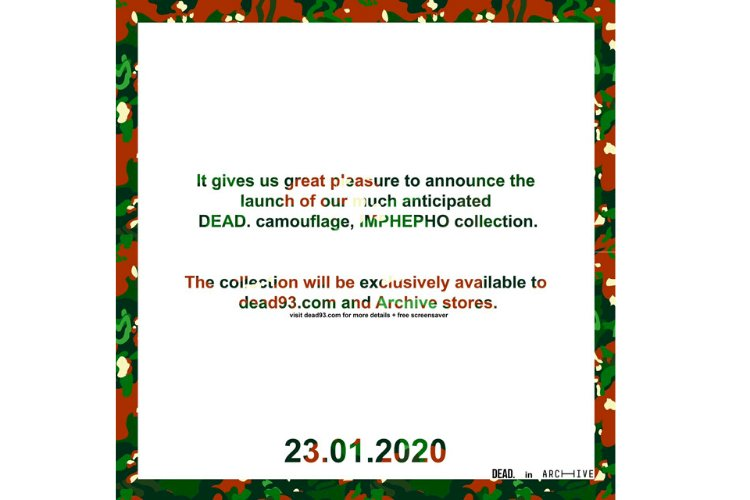 DEAD. IMPHEPHO COLLECTION IN ARCHIVE STORES 23.01.2020