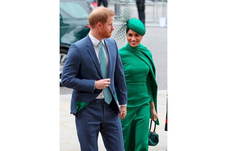 PRINCE HARRY AND MEGAN DUCHESS OF SUSSEX JOINED GRANNY QUEEN AT CHURCH YESTERDAY MORNING
