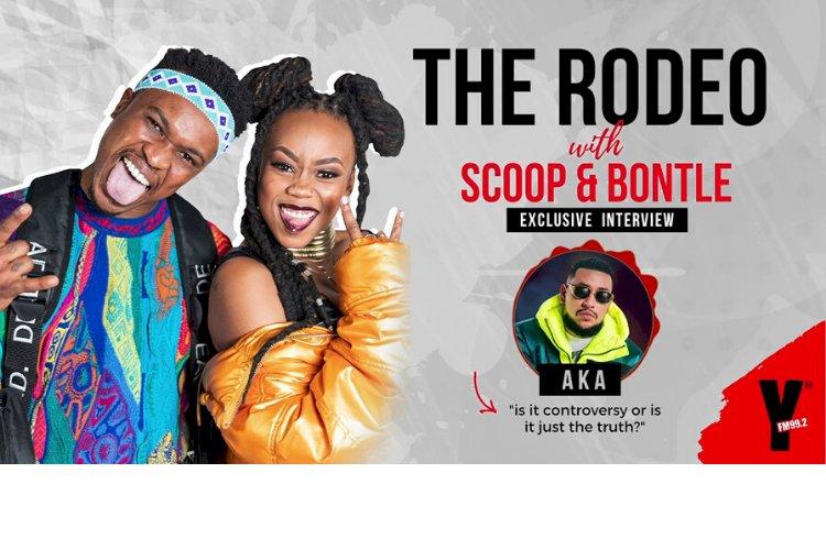 Scoop Makhathini and Bontle Modiselle interview AKA | Reebok, Sizwe and being broke